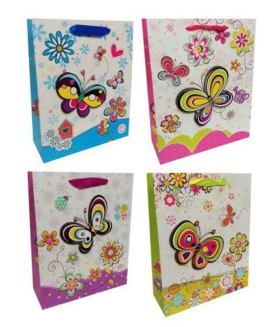Пакет картон Яркий с бабочкой
