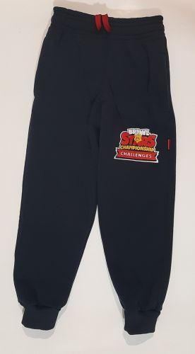 Спортивные брюки манжет, начес Синий темный