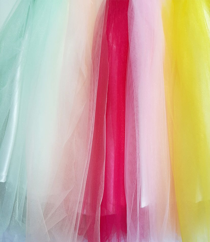 Платье нарядное Радуга Молочный