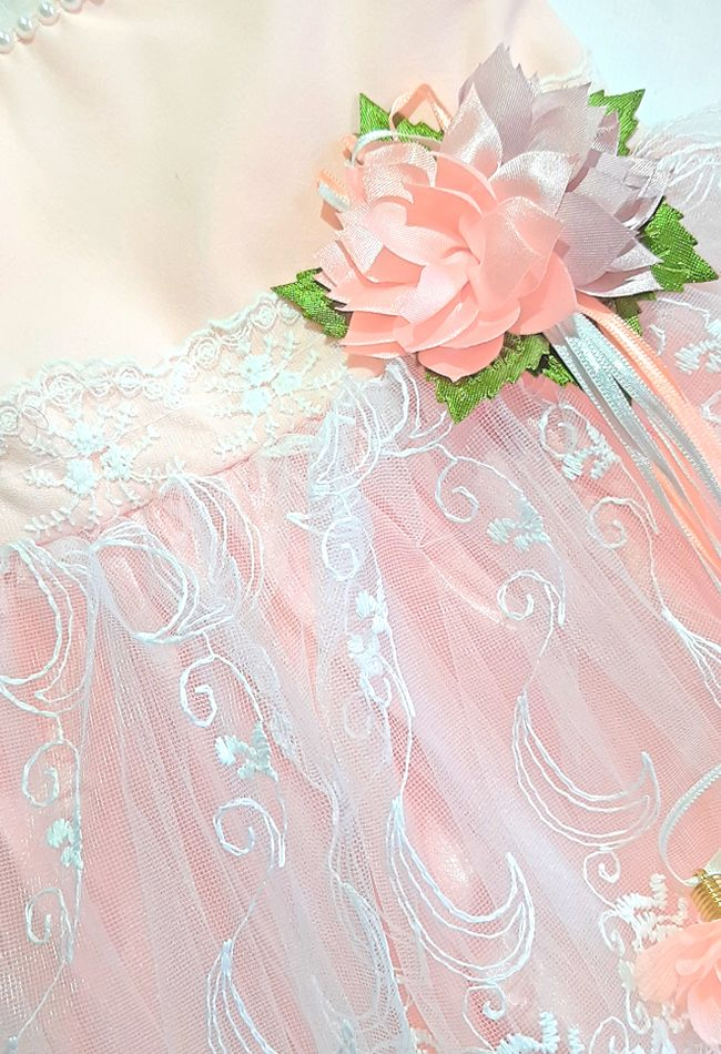 Платье нарядное Цветок Микс