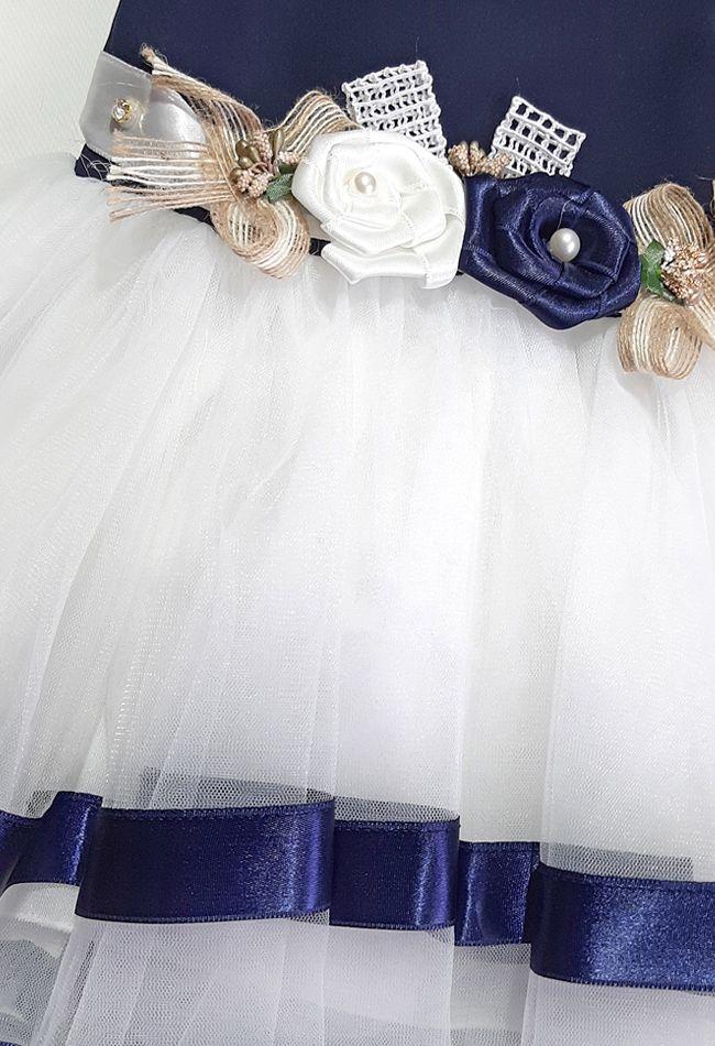 Платье нарядное Три цветка Микс