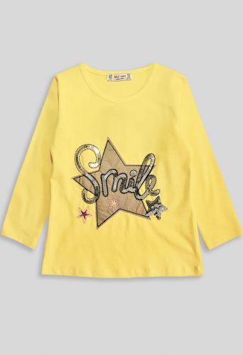 Джемпер Smile, звезда Желтый