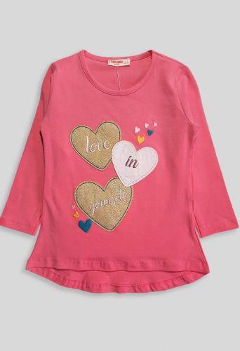 Джемпер Три сердца Розовый темный
