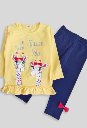 Костюм Два жирафа Желтый