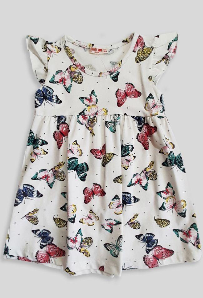 Платье Бабочки Молочный