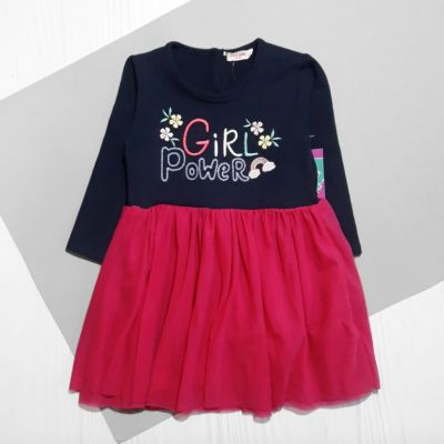 Платье Girl, радуга Синий