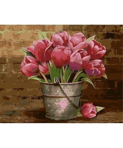 Живопись по номерам Тюльпаны