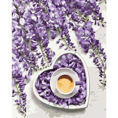 Набор для росписи по номерам Фиолетовое сердце