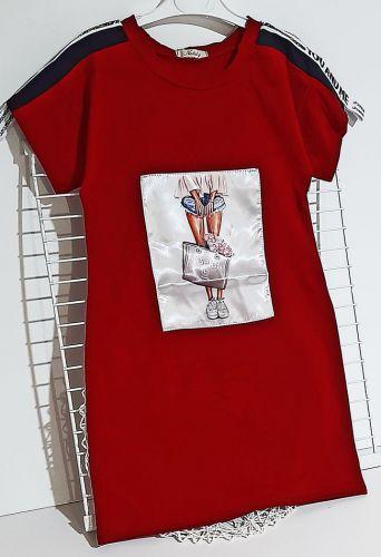 Платье Девушка Красный