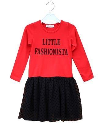 Платье Маленькая модница Красный