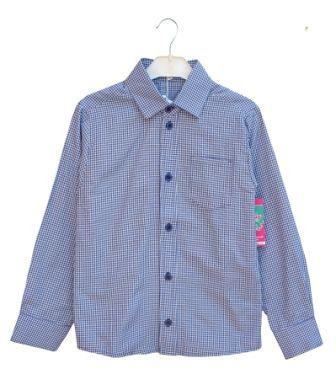 """Рубашка """"Клетка"""" голубой Голубой"""