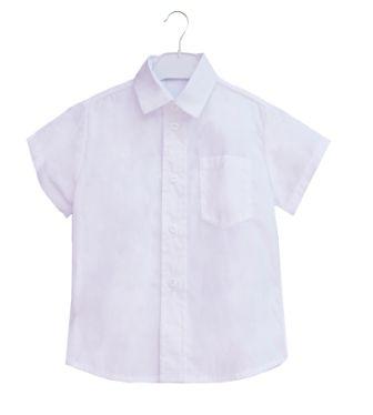 Рубашка короткий рукав Классическая Белый