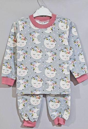 Пижама трикотажная  Луна Серый