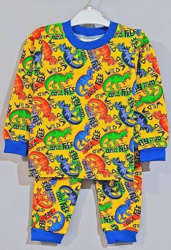 Пижама трикотажная с начесом  Желтый
