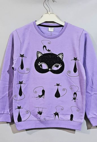 Джемпер Черная кошка Лиловый