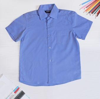 Рубашка короткий рукав Классика Голубой