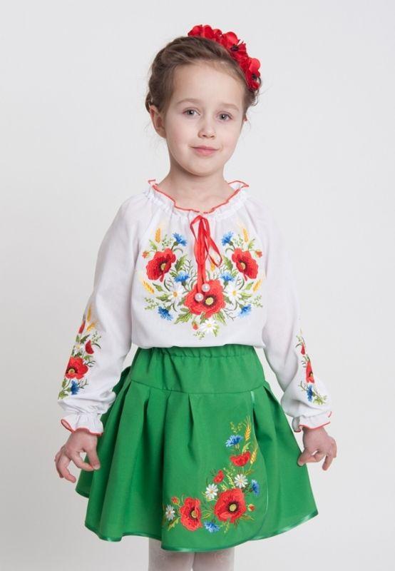 Блуза - вышиванка Маки Черный