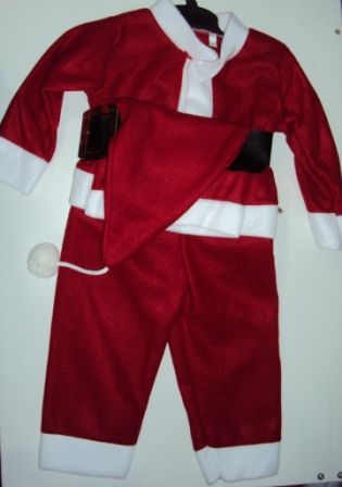 Костюм маскарадный Дед Мороз Красный