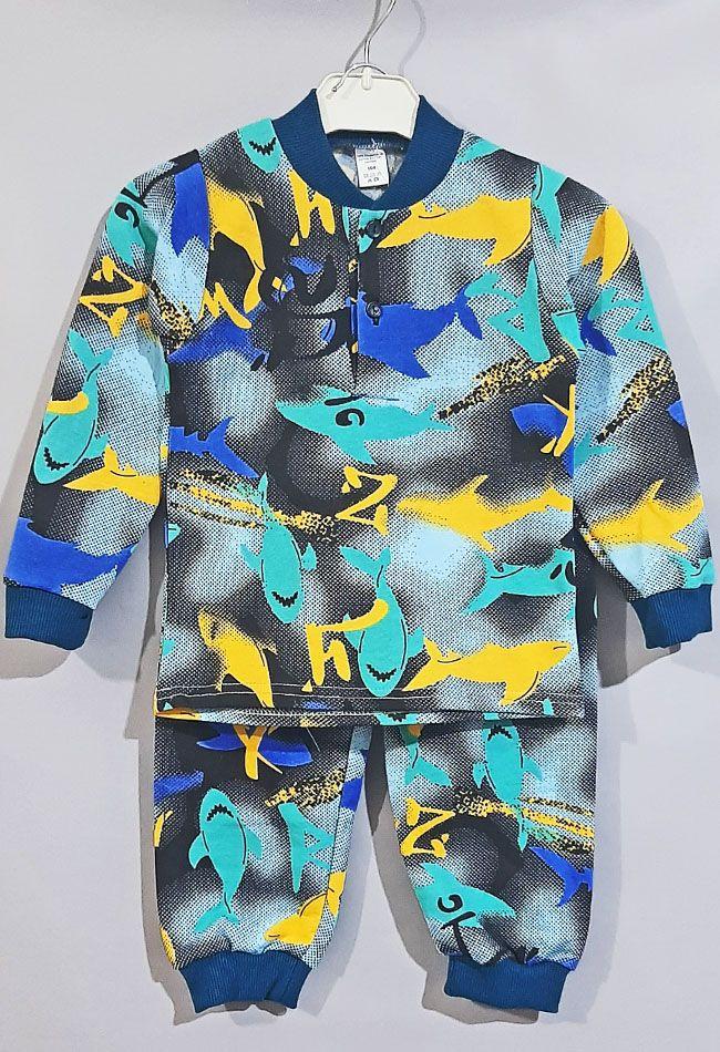 Пижама трикотажная с начесом  Микс