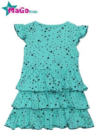 """Платье для девочки """"Звездочки"""" Ментол"""