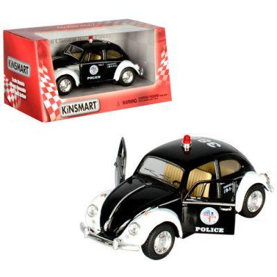 Машина Полиция Volkswagen Classical Beetle металл
