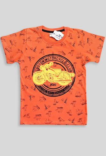 Футболка Мото лето Оранжевый