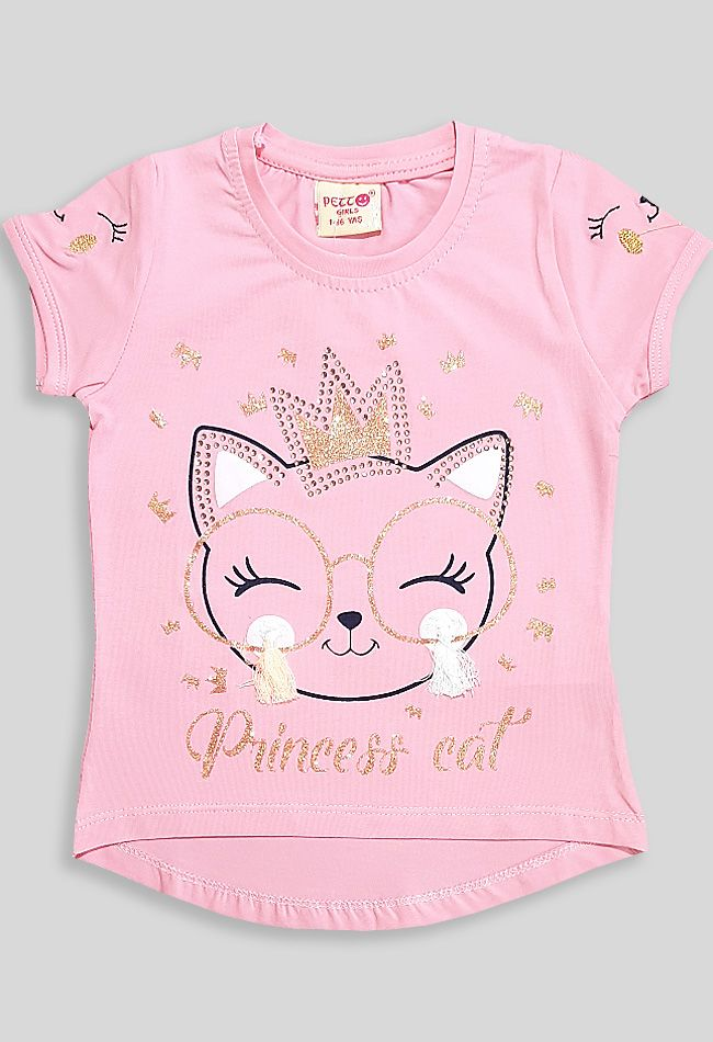 Футболка Кошечка принцесса Розовый