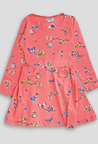 Платье Бабочки Коралловый