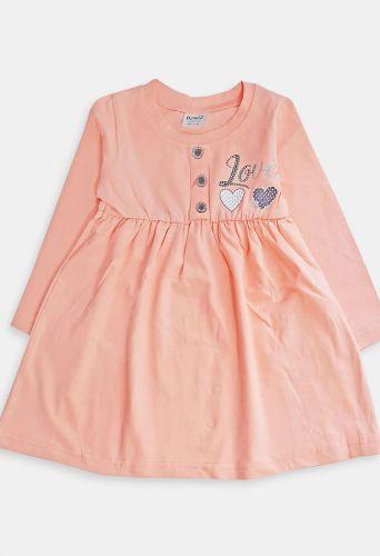 Платье LOVE Пудра