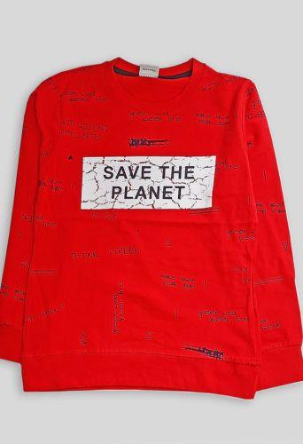 Джемпер Save the planet Красный