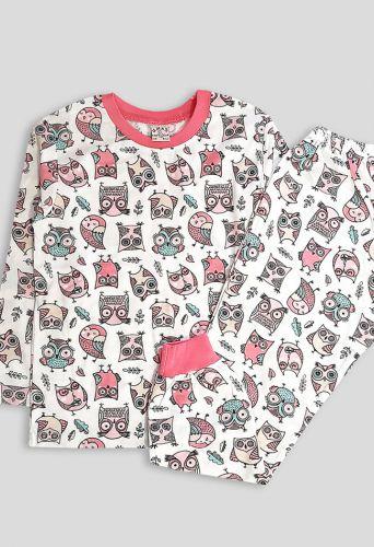 Пижама совушка Молочный