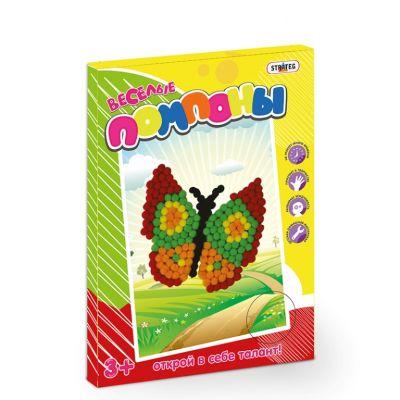 Веселые помпоны Бабочка
