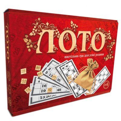 Настольная игра Лото с деревянными фишками