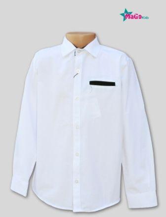 Рубашка с длинным рукавом Классика Белый