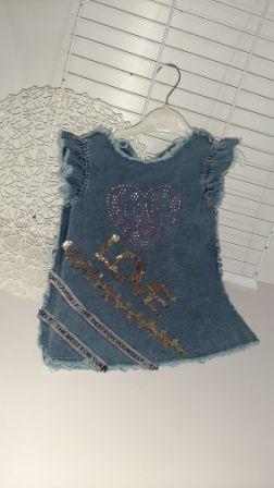 Платье джинс LOVE Деним светлый
