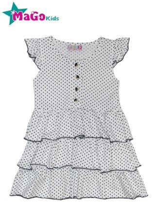Платье Горошки Белый