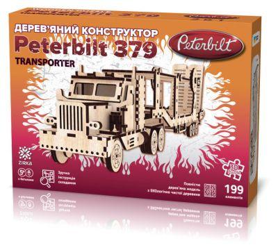 Деревянный 3Д конструктор Peterbilt Transporter