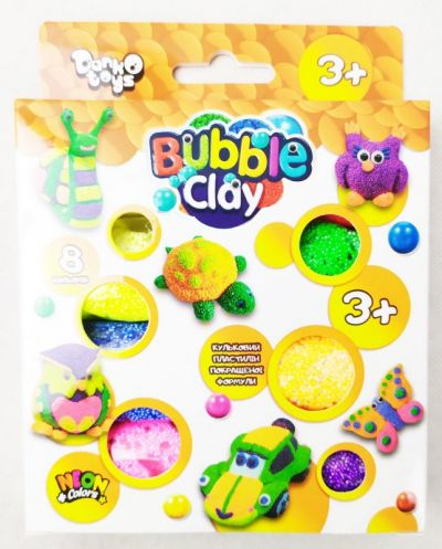 Креативное творчество Bubble Clay 8 цветов