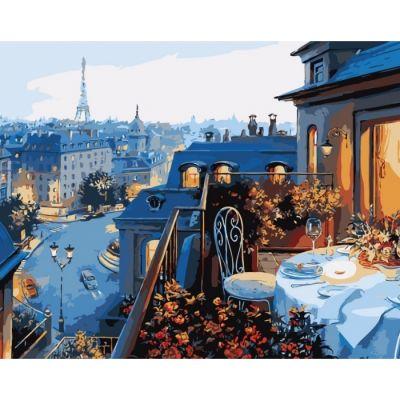 Роспись по номерам Вид на Париж