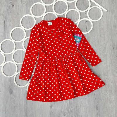 Платье Бант, горошки Красный