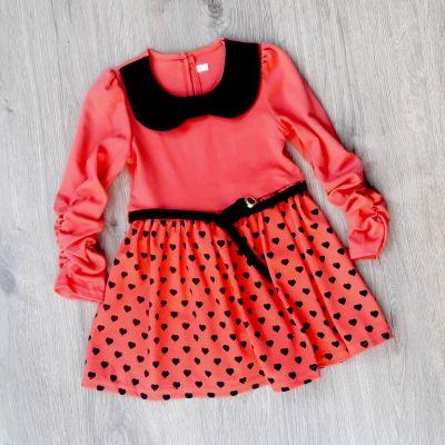 Платье Сердечки Коралловый