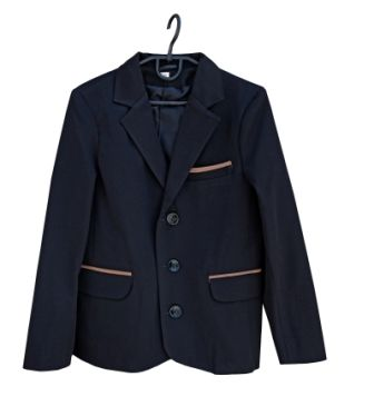 Пиджак латки Черный