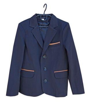 Пиджак латки Синий