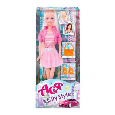 Кукла Ася 28см Стиль большого города, блондинка