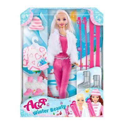 Набор с куклой 28см Зимняя красавица, блондинка