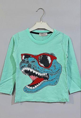 Джемпер Динозавр в очках Мята