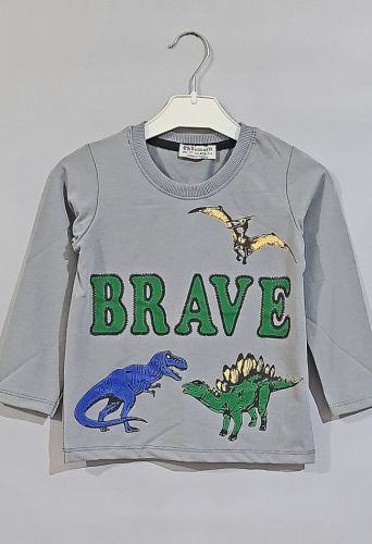 Джемпер Динозавр Brave Серый
