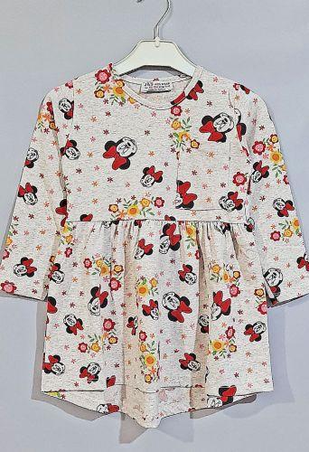 Платье Микки цветы Бежевый