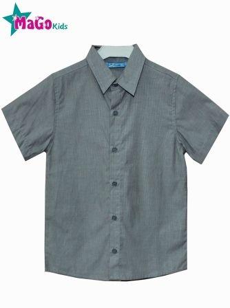 Рубашка короткий рукав Полоса Серый темный