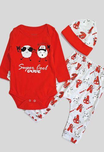 Комплект Super Крутой парень Красный